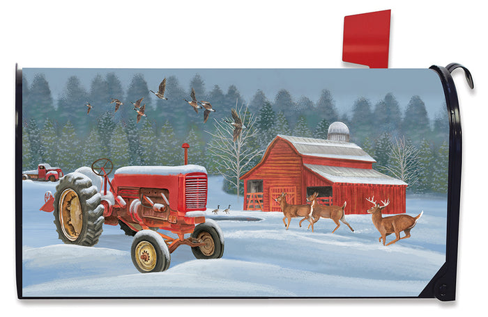 Briarwood Lane Winter On The Farm Mailbox Cover