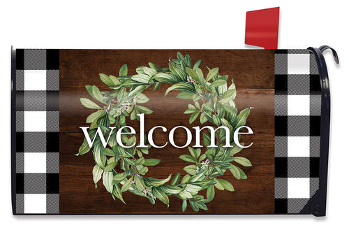 Briarwood Lane Farmhouse Wreath Large Mailbox Cover