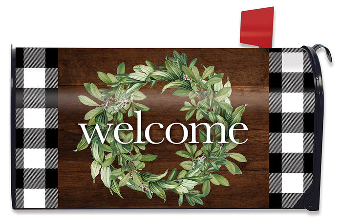 Briarwood Lane Farmhouse Wreath Mailbox Cover