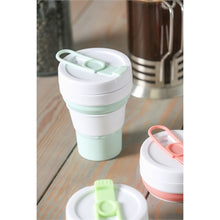 Load image into Gallery viewer, Evergreen Collapsible 16 oz. Silicone Beverage Cup