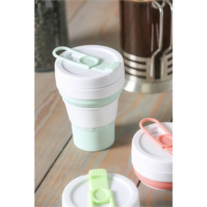 Evergreen Collapsible 16 oz. Silicone Beverage Cup