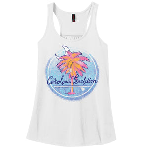 Painted Palm Circle Tank Top