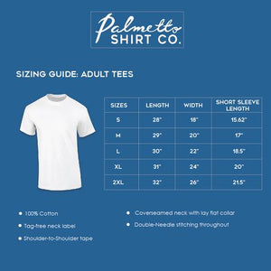 PALMETTO SHIRT CO. WOOD MAP SHORT SLEEVE T-SHIRT