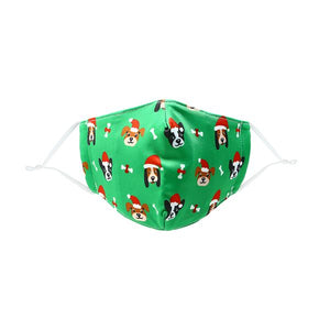 Pavilion Santa Dog Youth Face Mask