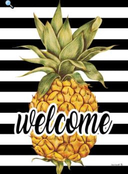 CUSTOM DECOR WELCOME PINEAPPLE HOUSE FLAG
