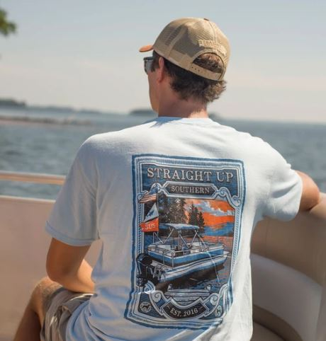 Straight Up Southern Pontoon T-shirt