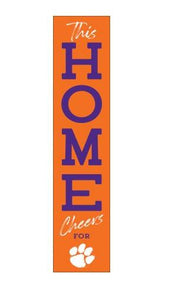 P. Graham Dunn This Home Cheers For Clemson Tigers Porch Lean