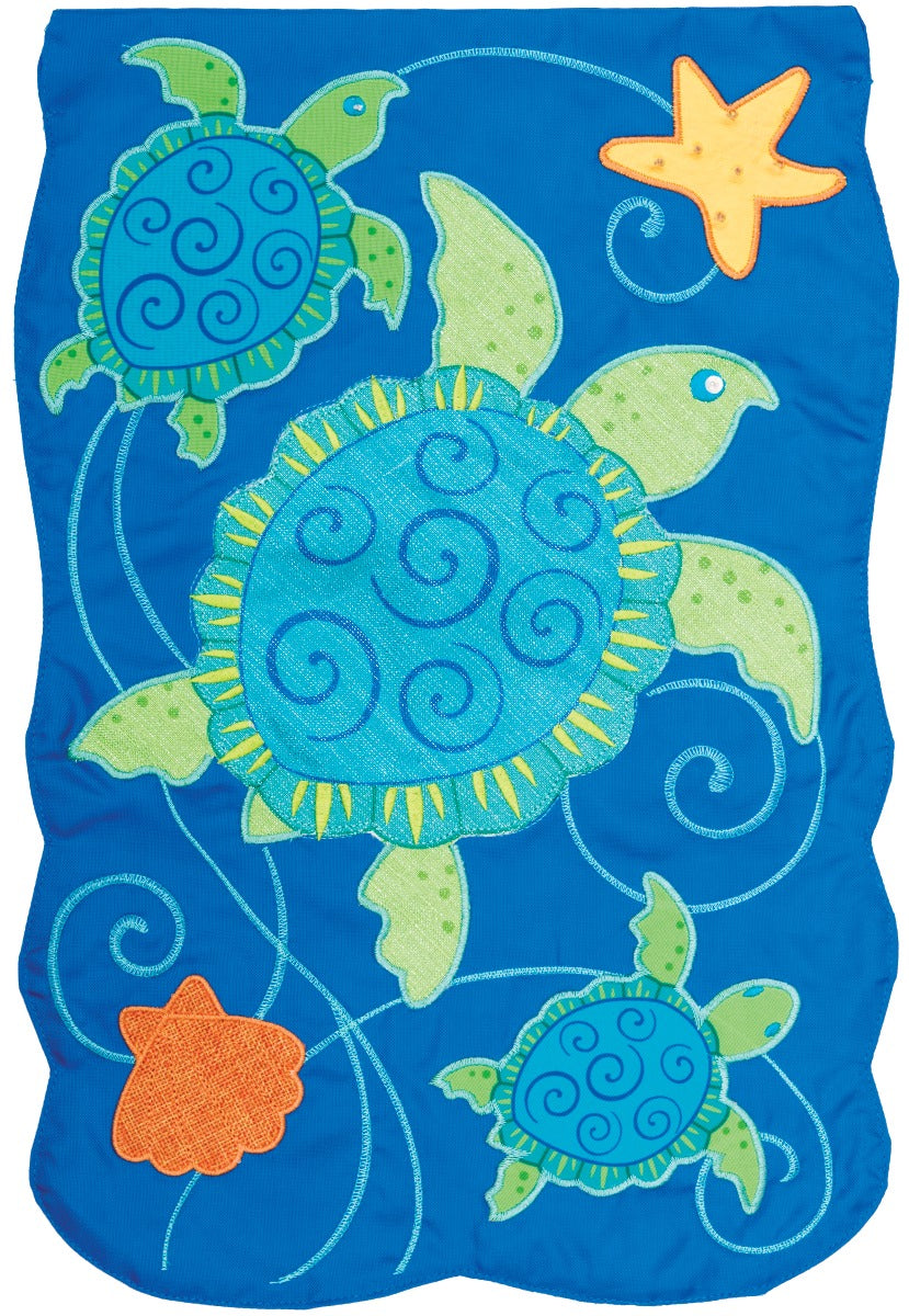 Custom Decor Sea Turtles Garden Flag