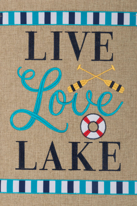 CUSTOM DECOR LIVE LOVE LAKE GARDEN FLAG