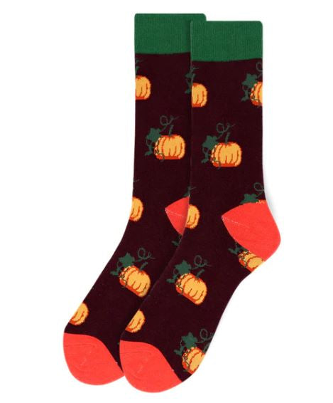 Parquet Men's Pumpkin Novelty Socks