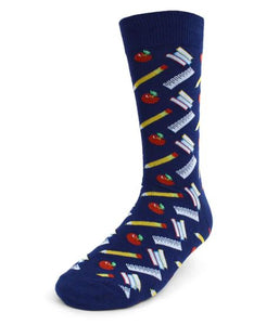 Parquet Men's School Supplies Novelty Socks