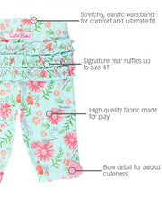Load image into Gallery viewer, RuffleButts Running in Wildflowers Bow-Detail Capri Leggings