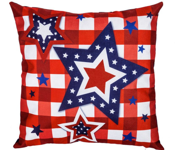 Evergreen Patriotic Star Trio Interchangeable Pillow Cover