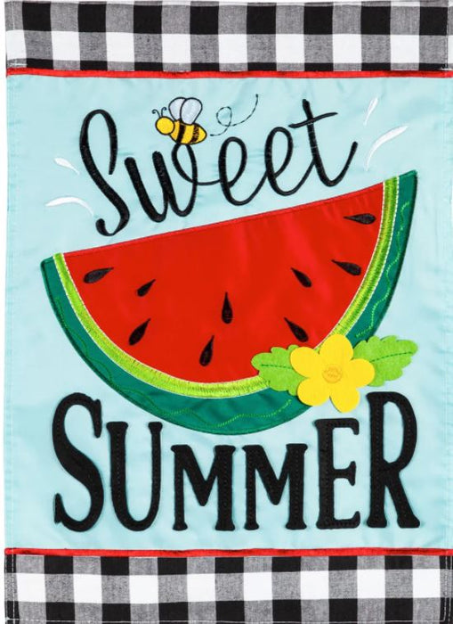 Evergreen Sweet Summer Watermelon Garden Flag