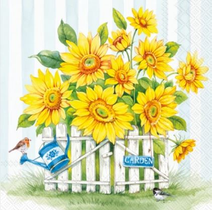 Sunflower Garden Paper Lunch Napkins