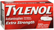 Load image into Gallery viewer, TYLENOL EXTRA STRENGTH CAPLET 100 COUNT