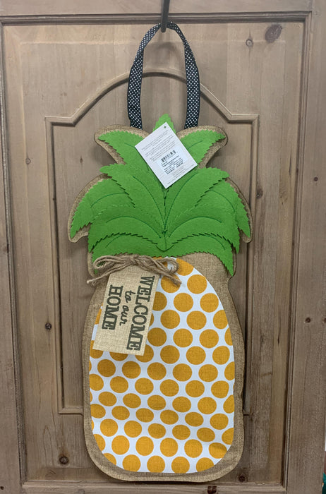 EVERGREEN SP20 DOOR DECOR PINEAPPLE WELCOME