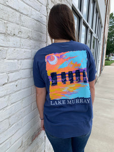 Painted Lake Murray T-shirt - Blue