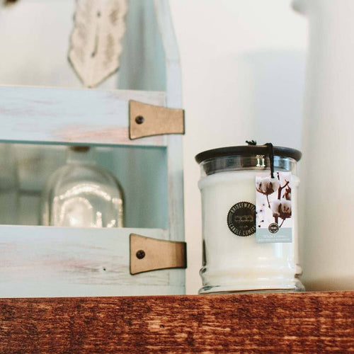 Bridgewater Candle Company White Cotton Small Jar Candle