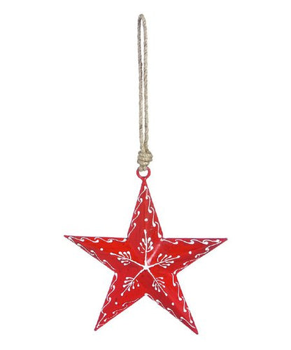 Evergreen Iron Nordic Heart Star Ornament
