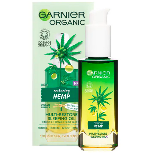 Garnier Organic Hemp Multi-Restore Facial Sleeping Oil 30ml