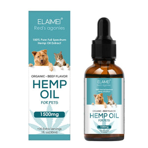 Elaimei Hemp Organic Hemp Oil for Pets 1500mg