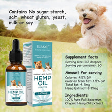 Load image into Gallery viewer, Elaimei Hemp Organic Hemp Oil for Pets 1500mg
