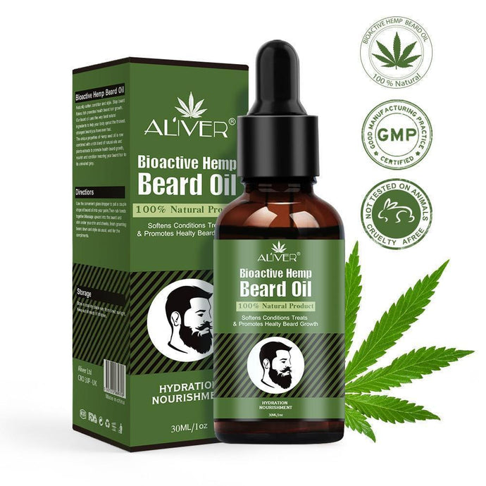 Aliver 30ml Bioactive Hemp Beard Oil-EssenceHempOil