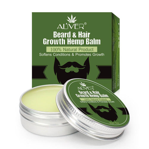 Aliver Organic Beard & Hair Growth Hemp Balm-EssenceHempOil