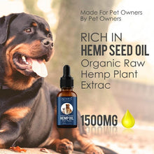 Load image into Gallery viewer, Aliver Premium Organic Hemp Oil for pets 1500mg-EssenceHempOil
