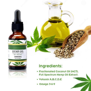 ECO finest Organic Hemp Seed Oil 5000mg-EssenceHempOil