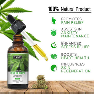 Elaimei Bio-active Hemp Oil Drops 2000mg-EssenceHempOil