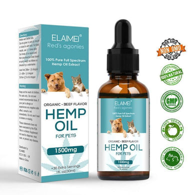 Elaimei Hemp Organic Hemp Oil for Pets 1500mg-EssenceHempOil