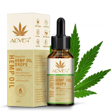 Aliver Bioactive Hemp oil Drops - 100% Natural Product - Full Spectrum 3000mg