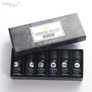 IMIEUX 10ml 6pcs/kit Gift Set Pure Essential Oils