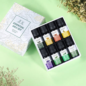 Unclin Therapeutic 100% Pure Natural Essential Oil 10ml 8pieces Gift Set