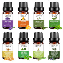 Load image into Gallery viewer, Unclin Therapeutic 100% Pure Natural Essential Oil 10ml 8pieces Gift Set