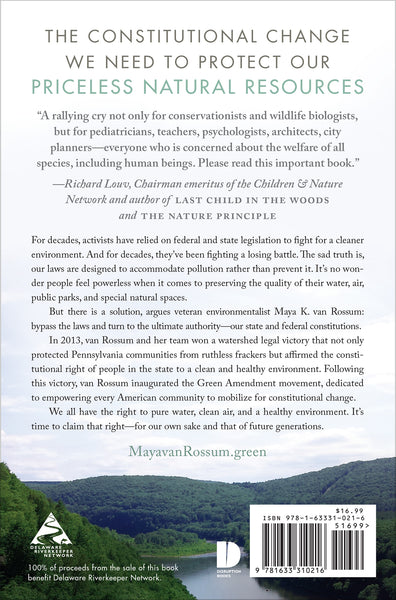 The Green Amendment book cover back