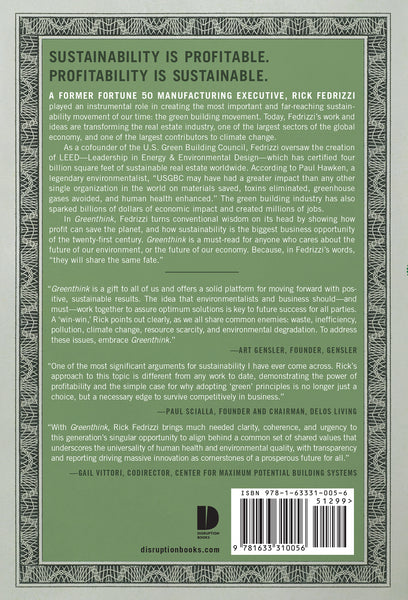 Greenthink book cover back