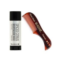 Load image into Gallery viewer, Beardbrand-Spiced-Citrus-Moustache-Wax-Comb-set-nz