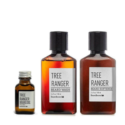 Beardbrand - Ultimate Beard Care Set: Tree Ranger Beard Wash, Softener & Oil