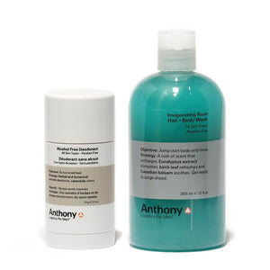 Anthony Logistics - Perfect Shower Set: Hair & Body Wash + Deodorant