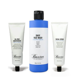 Baxter of California - Clear Skin Set: Face Wash + Moisturiser + Scrub