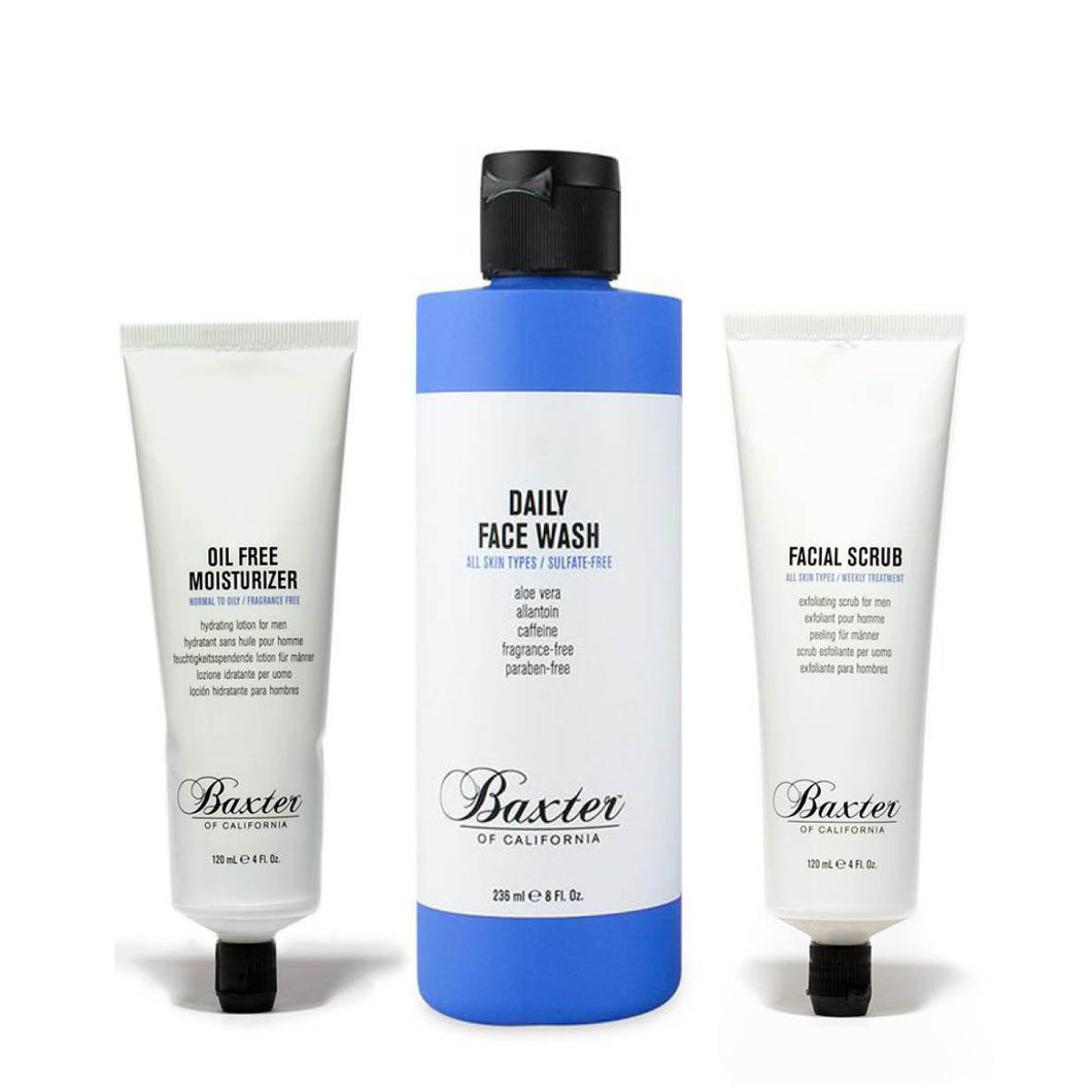 Baxter-of-California-Clear-Skin-Set-Wash-Moisturiser-Scrub-nz