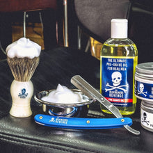 Load image into Gallery viewer, The Bluebeards Revenge - Chrome Shaving Bowl & Badger Hair Shaving Brush
