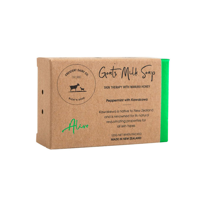 Crescent Diary Co Goats Milk Soap Alive Peppermint