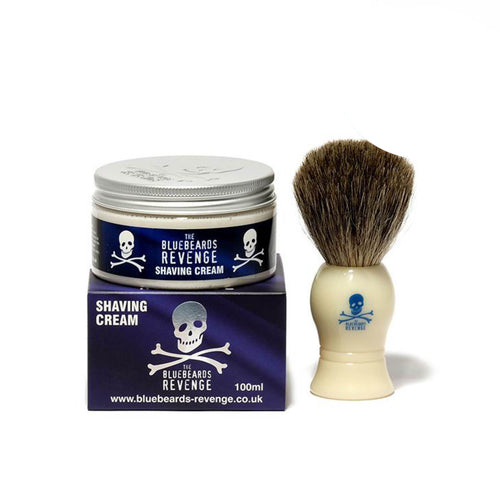 The Bluebeards Revenge - Pure Badger Shaving Brush & Shave Cream combo