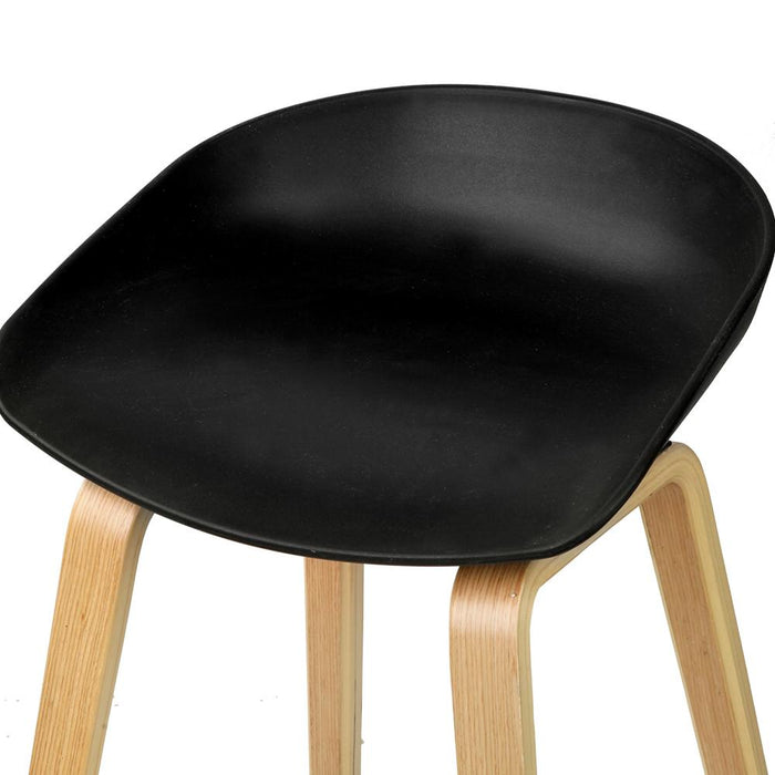 Phenomenal Set Of 2 Wooden Backless Bar Stool With Metal Footrest Black Squirreltailoven Fun Painted Chair Ideas Images Squirreltailovenorg