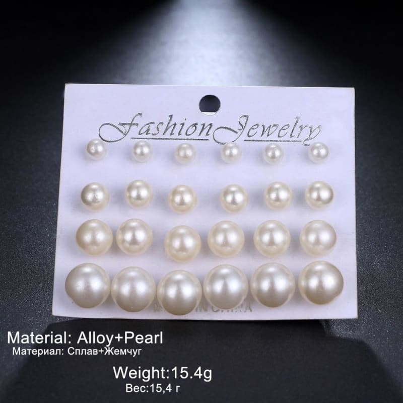 12Pairs/set Pearl Earrings - Custom Made | Free Shipping