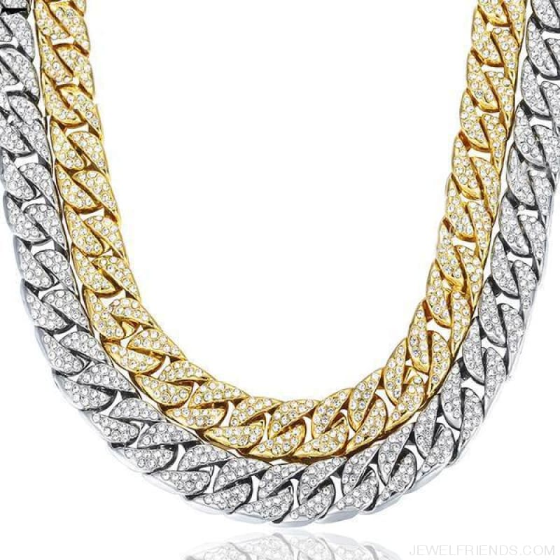 14Mm Miami Curb Cuban Chain Iced Out Hip Hop Necklace - Custom Made | Free Shipping